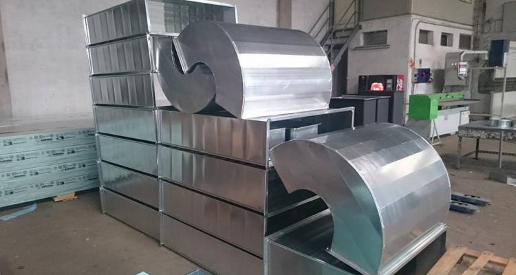 Metalclima service srl - produzione canali in lamiera zincata